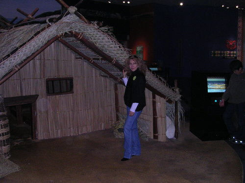 Maori dwelling display at Te Papa museum